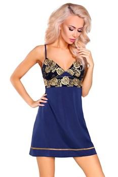 Изысканная сорочка Skye с золотистой вышивкой