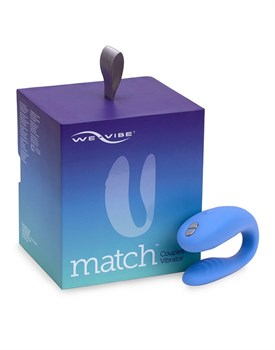 Голубой вибромассажер для пар We-Vibe Match