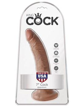 Фаллоимитатор-мулат с присоской 7  Cock - 17,8 см.
