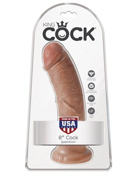 Фаллоимитатор-мулат 8  Cock - 20,3 см.
