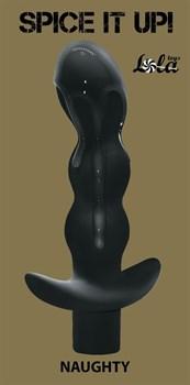 Чёрный анальный вибромассажёр Naughty - 14,5 см.