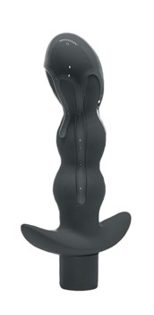 Серый анальный вибромассажёр Naughty - 14,5 см.
