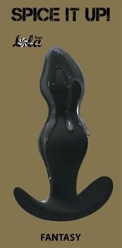 Чёрная фигурная анальная пробка Fantasy - 12,5 см.