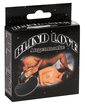 Чёрная маска на глаза на резинке Blind Love