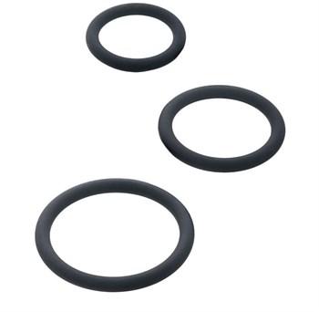 Набор из 3 чёрных эрекционных колец