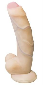 Фаллоимитатор REAL Standard с полузакрытой головкой - 13 см.