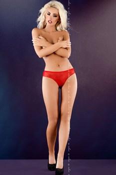 Кружевные трусики-стринги с пикантными вырезами и бантом сзади Anhelina