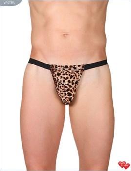 Леопардовые трусы-стринги