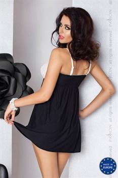 Сорочка Larisa в тонкую полоску с кружевным лифом