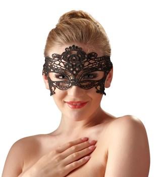 Кружевная маска на глаза на ажурных завязках