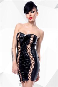 Платье с вертикальной открытой шнуровкой Astrid