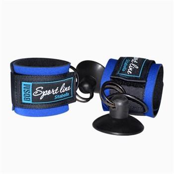 Сине-черные наручники с присосками для фиксации