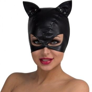 Маска кошки с большими прорезями для глаз