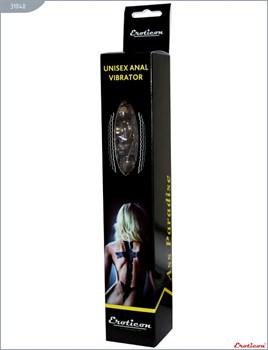 Чёрный анальный вибратор - 24 см.