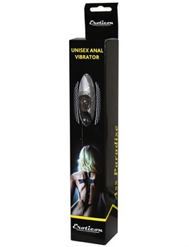 Чёрный анальный вибратор - 19 см.