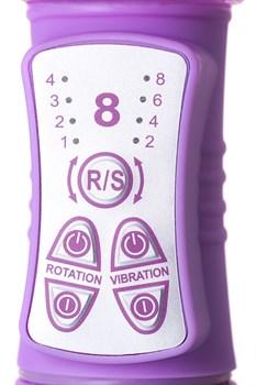 Фиолетовый вибратор High-Tech fantasy с бабочкой для клитора - 22,4 см.
