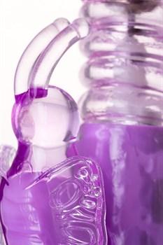 Фиолетовый хай-тек вибратор High-Tech fantasy с вращением бусин - 24,5 см.