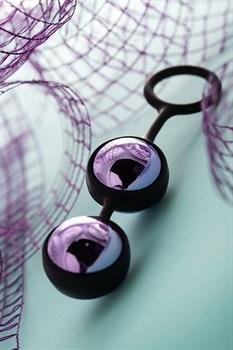 Фиолетово-черная вагинальные шарики TOYFA A-toys