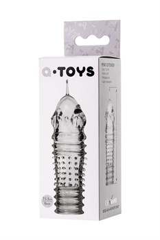 Прозрачная насадка на пенис TOYFA A-Toys с расширенной головкой - 15,3 см.