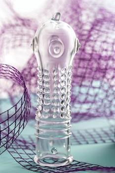 Прозрачная закрытая насадка на пенис TOYFA A-Toys - 14,7 см.