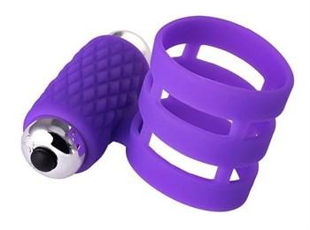 Фиолетовое эрекционное виброкольцо ADMA