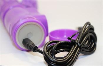 Фиолетовый виброкомпьютер с ротацией и режимом Up Down - 23,5 см.