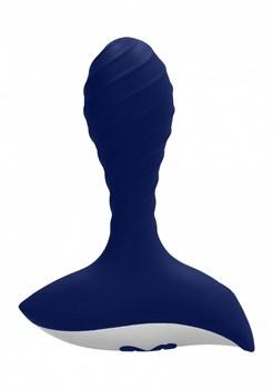Синий анальный вибростимулятор Astor Anal Vibrator