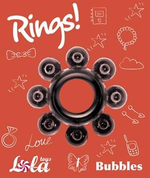 Чёрное эрекционное кольцо Rings Bubbles