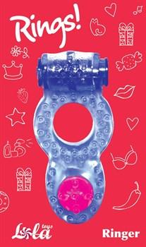 Фиолетовое эрекционное кольцо Rings Ringer
