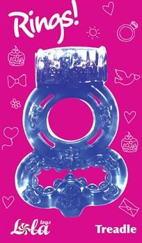 Фиолетовое эрекционное кольцо Rings Treadle с подхватом