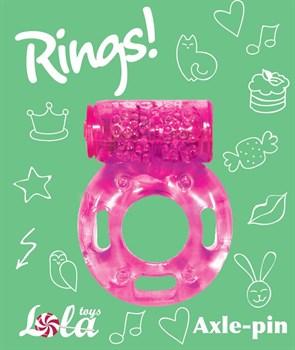 Розовое эрекционное кольцо с вибрацией Rings Axle-pin