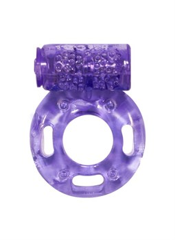 Фиолетовое эрекционное кольцо с вибрацией Rings Axle-pin
