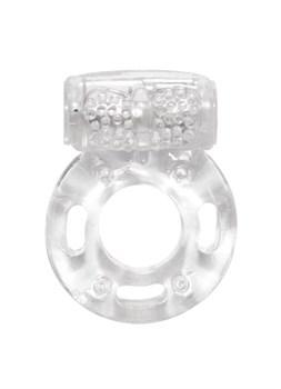 Прозрачное эрекционное кольцо с вибрацией Rings Axle-pin