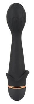 Чёрный гибкий вибратор Bendy Flower - 16,8 см.