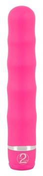 Розовый вибратор Deep Vibrations - 21 см.