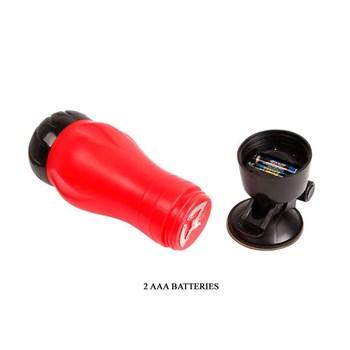Мастурбатор-ротик с вибрацией, функцией голоса и в колбе с присоской