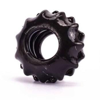 Чёрное эрекционное кольцо POWER PLUS Cockring