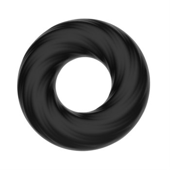 Чёрное эластичное эрекционное кольцо Super Soft