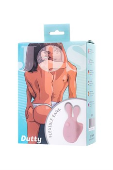 Нежно-розовая вибронасадка на палец DUTTY