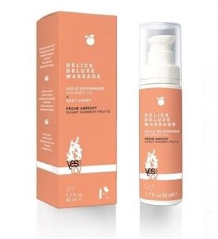 Массажное масло для тела DELICE DELUXE MASSAGE с ароматом фруктов - 50 мл.
