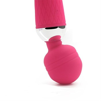 Розовый жезловый вибратор - 19,5 см.