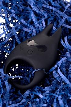 Чёрное эрекционное виброкольцо Erotist из силикона