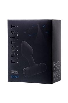 Чёрная анальная мини-вибровтулка Erotist Shaft - 7 см.