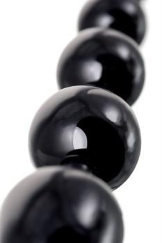 Анальная цепочка черного цвета A-toys - 19,8 см.
