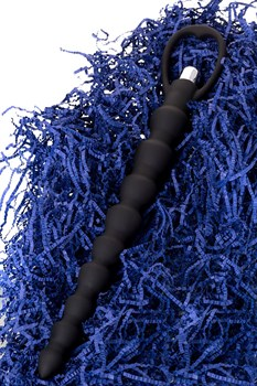 Черная анальная цепочка с вибрацией A-toys - 32,7 см.