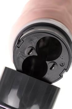 Телесный реалистичный мультискоростной вибратор A-Toys - 20,2 см.