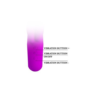 Фиолетовый вибратор Valentine с клиторальным отростком - 15,4 см.