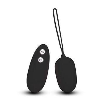 Чёрное виброяйцо с пультом дистанционного управления ULTRA SEVEN REMOTE CONTROL EGG