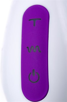 Фиолетовый вибратор JOS TATY с пульсирующими шариками - 21,5 см.