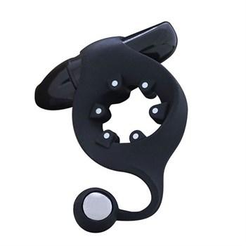 Чёрное эрекционное кольцо с магнитами MOJO MAGNETO